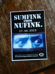 SUMFINK FROM NUFINK - Flyer design for the exhibition by NUFINK at Tortuga Studios
